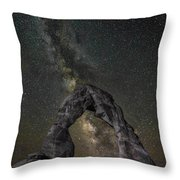 Milky Way Delicate Arch Throw Pillow