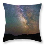 Milky Way Eagle Lake Throw Pillow
