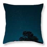 Milky Way From Earth Throw Pillow