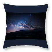 Milky Way Galaxy From Earth Throw Pillow