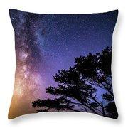 Milky Way In Newport, Or Throw Pillow