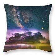 Milky Way Monsoon Throw Pillow