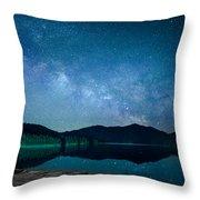 Milky Way Morning Throw Pillow