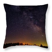 Milky Way, Moultonborough, Nh Throw Pillow