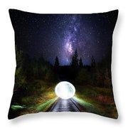 Milky Way Orb Throw Pillow
