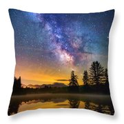 Milky Way Over Coffin Pond  Throw Pillow