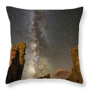 Milky Way Over Crest House Throw Pillow