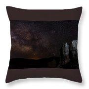 Milky Way Over Navajo Loop Trail Throw Pillow