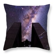 Milky Way Over New Technology Telescope Throw Pillow