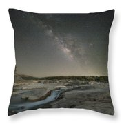 Milky Way Over The Texas Hill Country 2 Throw Pillow