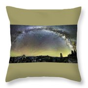 Milky Way Over Yosemite Valley Throw Pillow