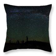 Milky Way Panorama Throw Pillow