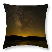 Milky Way Refection Throw Pillow
