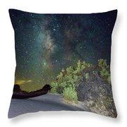 Milky Way White Sands Throw Pillow