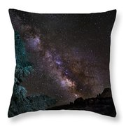 Milkyway At The Mountains Throw Pillow