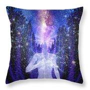 Milkyway Awakening Throw Pillow