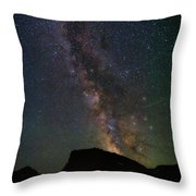 Milkyway Over Chief Mt Throw Pillow