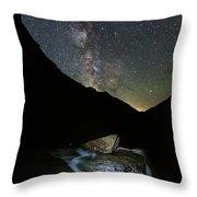 Milkyway Over Haystack Throw Pillow