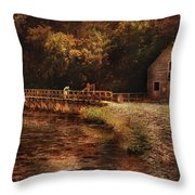 Mill - The Village Edge Throw Pillow by Mike Savad