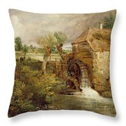 Mill At Gillingham - Dorset Throw Pillow by John Constable