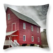 Mill At Whitewater Cree Throw Pillow