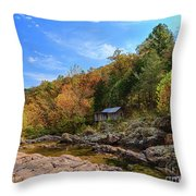 Mill By The Stream Throw Pillow
