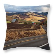 Mill Creek Rd Throw Pillow