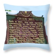 Mill Description Throw Pillow