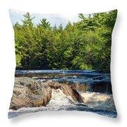 Mill Falls, Kejimkujik National Park, Nova Scotia Throw Pillow