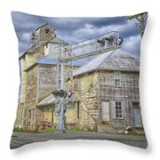 Mill On Reid Road Throw Pillow