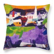 Mill Pond In Summer Throw Pillow
