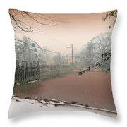 Mill Pond Snow Throw Pillow