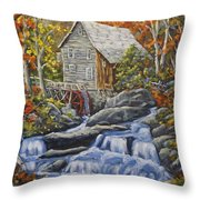 Mill Scene 03 Throw Pillow