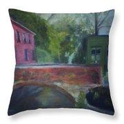 Mill Street Plein Aire Throw Pillow