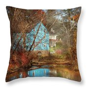 Mill - Walnford, Nj - Walnford Mill Throw Pillow