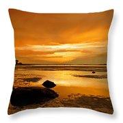 Mill Way Beach Sunset Throw Pillow