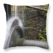 Mill Wheel Throw Pillow by Stefano Piccini