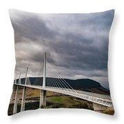 Millau Viaduct Throw Pillow