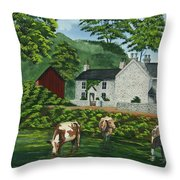 Milldale In Staffordshire Throw Pillow