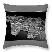 Millennium Falcon Attack Throw Pillow