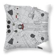 Millennium Falcon II Throw Pillow