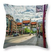 Millennium Gate In Vancouver Chinatown, Canada Throw Pillow