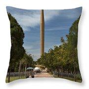 Millennium Monument Throw Pillow