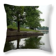 Miller Park Lake Throw Pillow