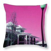 Miller Park Pavilion False Color Ir Number 1 Throw Pillow