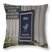 Miller Stable Throw Pillow