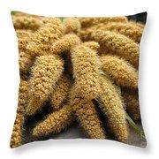 Millet Heads Throw Pillow