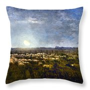 Millet: Sheep By Moonlight Throw Pillow