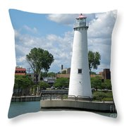 Milliken State Park Lighthouse Throw Pillow