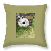 Milling Wheel Throw Pillow